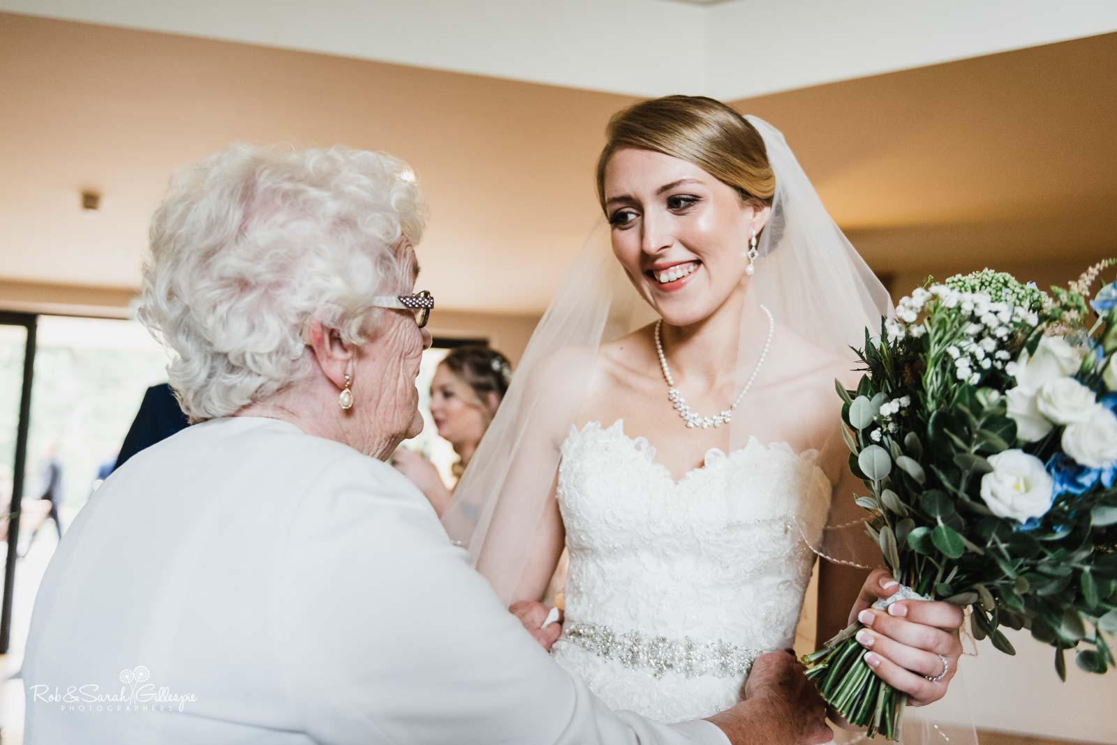 Bride and grandmother at The Mill Barns