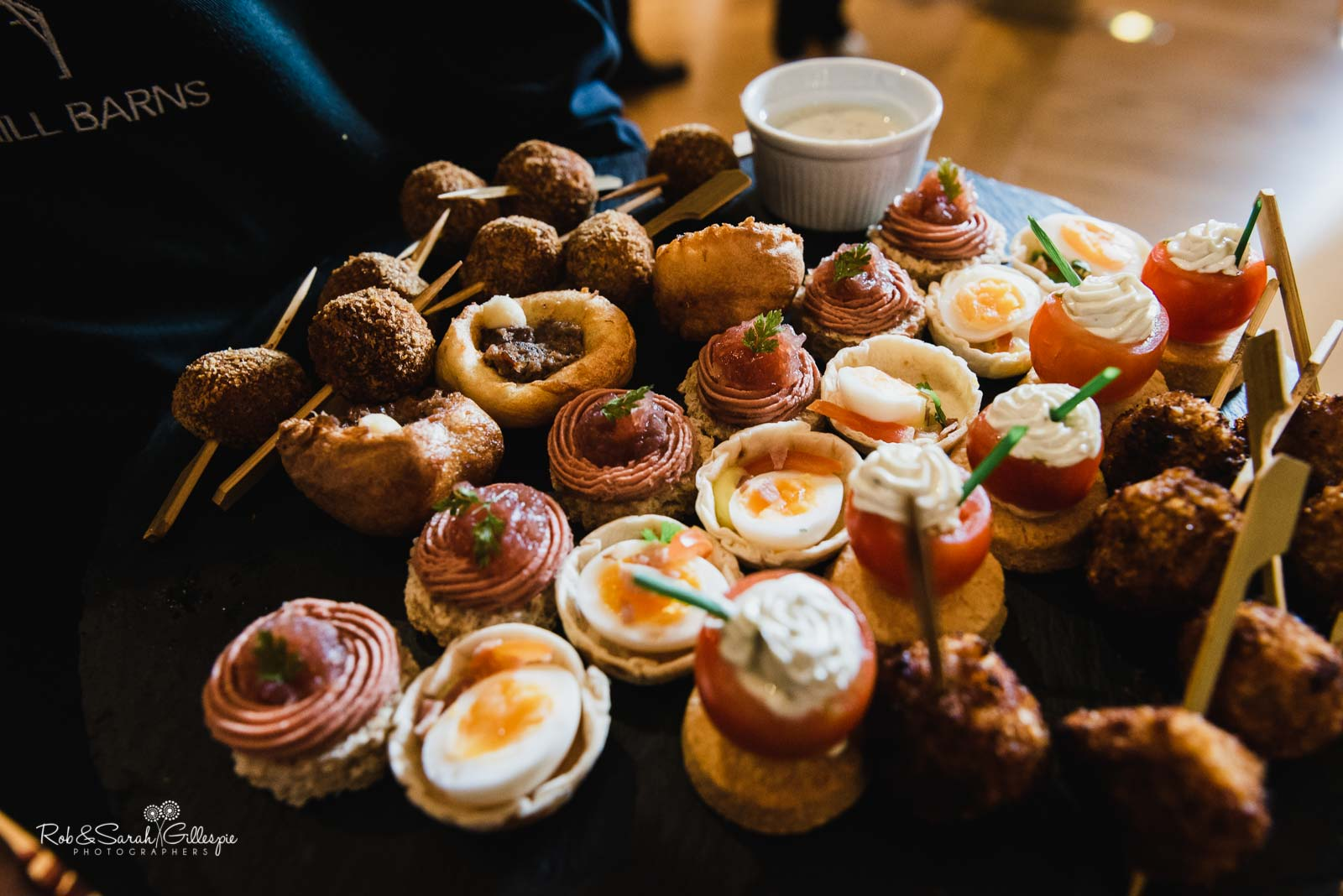 Canapes at The Mill Barns wedding