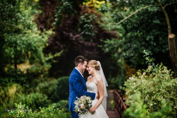 Beautiful portrait of bride and groom at The Mill Barns