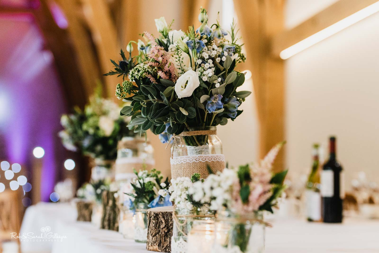 Wedding flowers at The Mill Barns