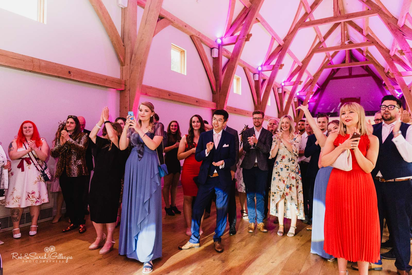 Wedding guests watch first dance at The Mill Barns