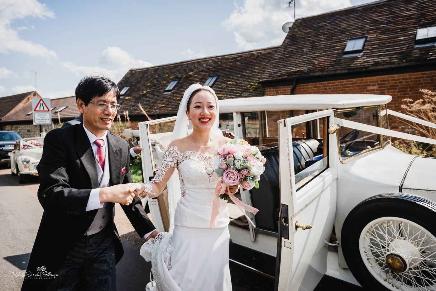 Wedding at St Peter's church Bourton-on-Dunsmore