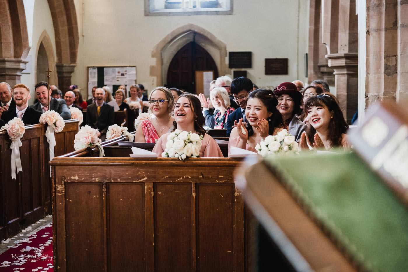 Wedding ceremony at St Peter's church Bourton-on-Dunsmore