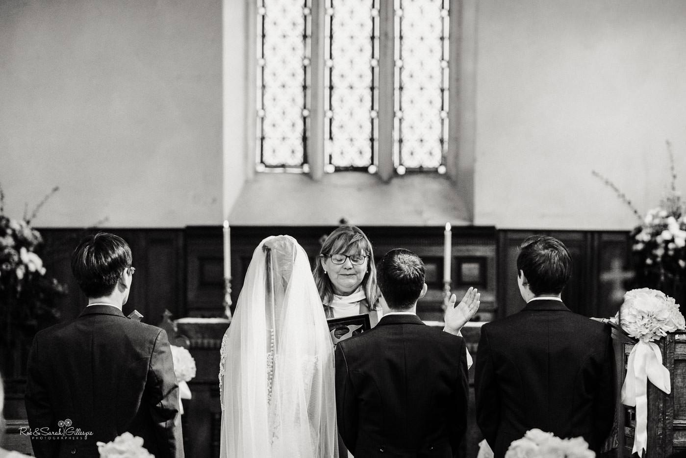 Wedding ceremony at St Peter's church Bourton-on-Dunsmore photographed by Rob & Sarah Gillespie