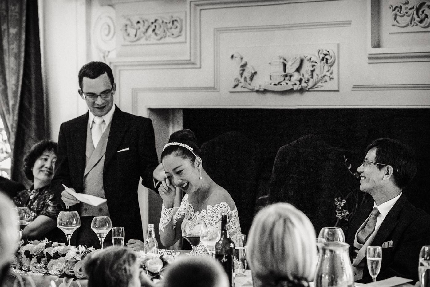 Wedding speeches at Coombe Abbey