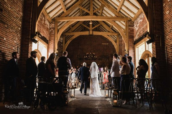 Hazel Gap Barn wedding ceremony
