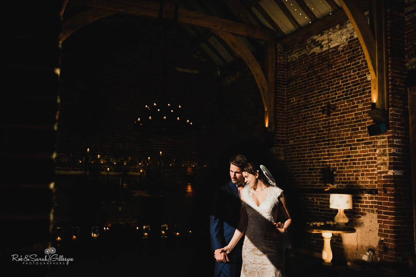 Couple at Hazel Gap Barn wedding