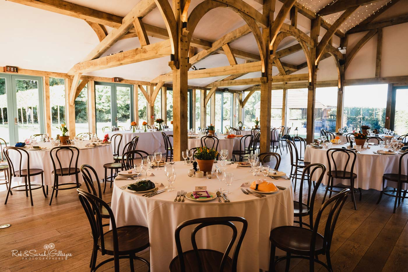 Wedding breakfast at Hazel Gap Barn