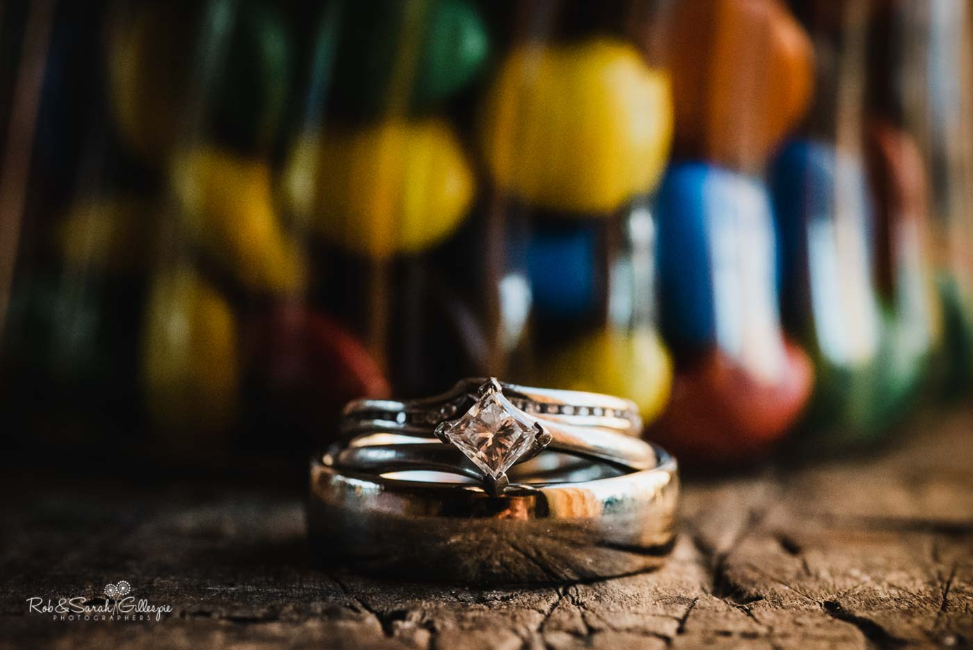 Wedding rings at Hazel Gap Barn