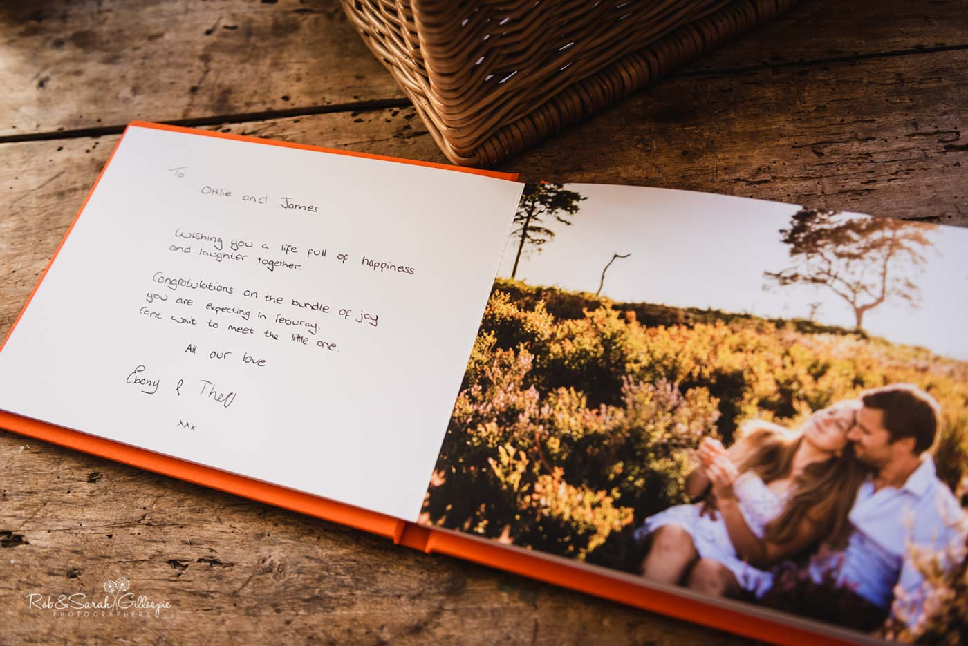 Guest Book at Hazel Gap Barn wedding