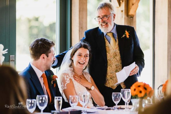 Wedding speeches with emotion