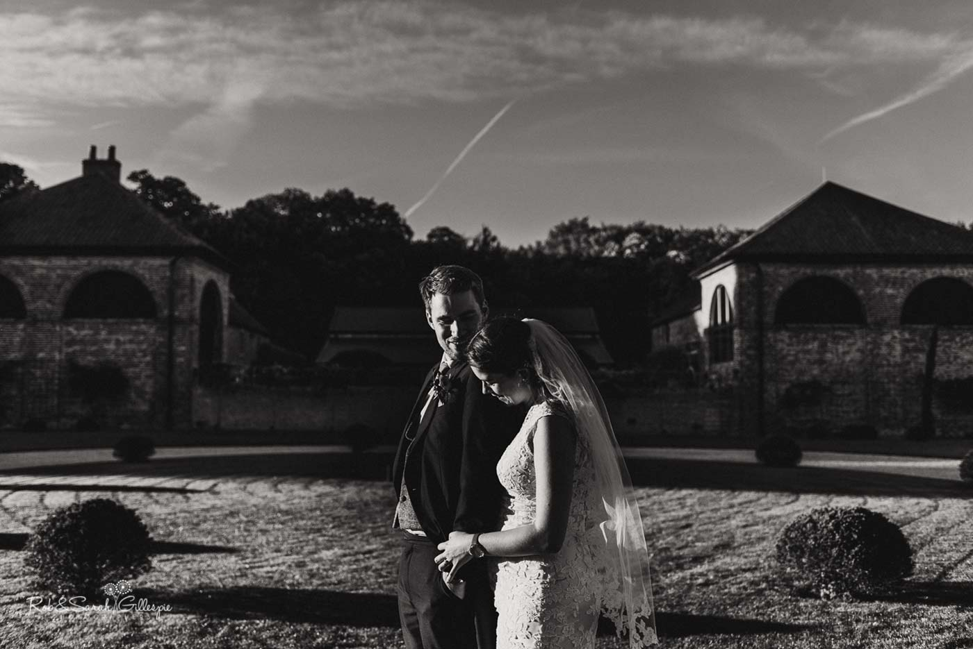 Bride and groom at Hazel Gap Barn wedding