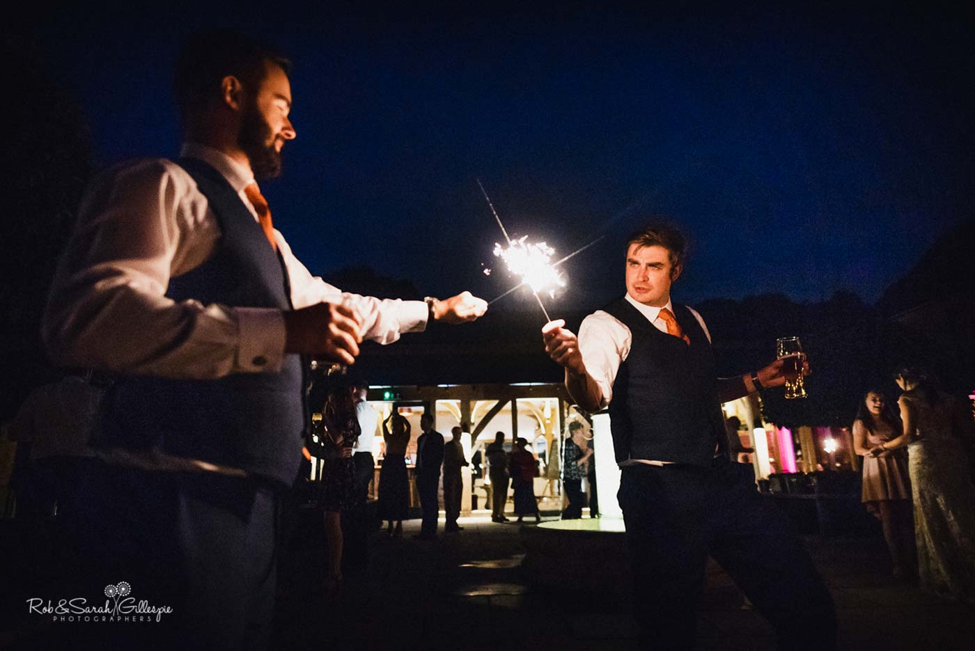 Sparklers at Hazel Gap Barn wedding