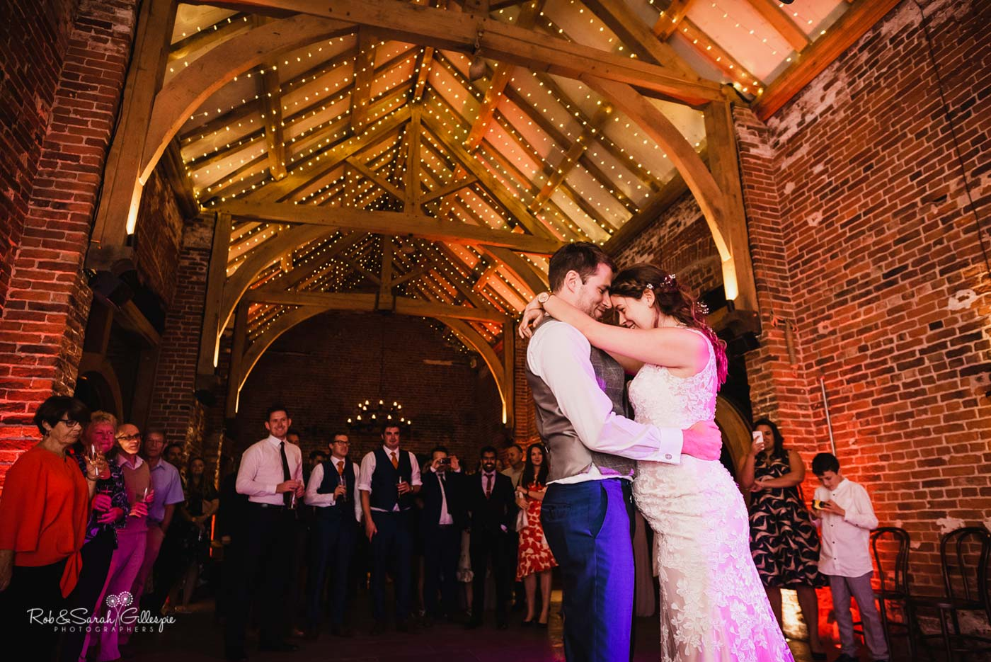 Bride & groom first dance at Hazel Gap Barn wedding
