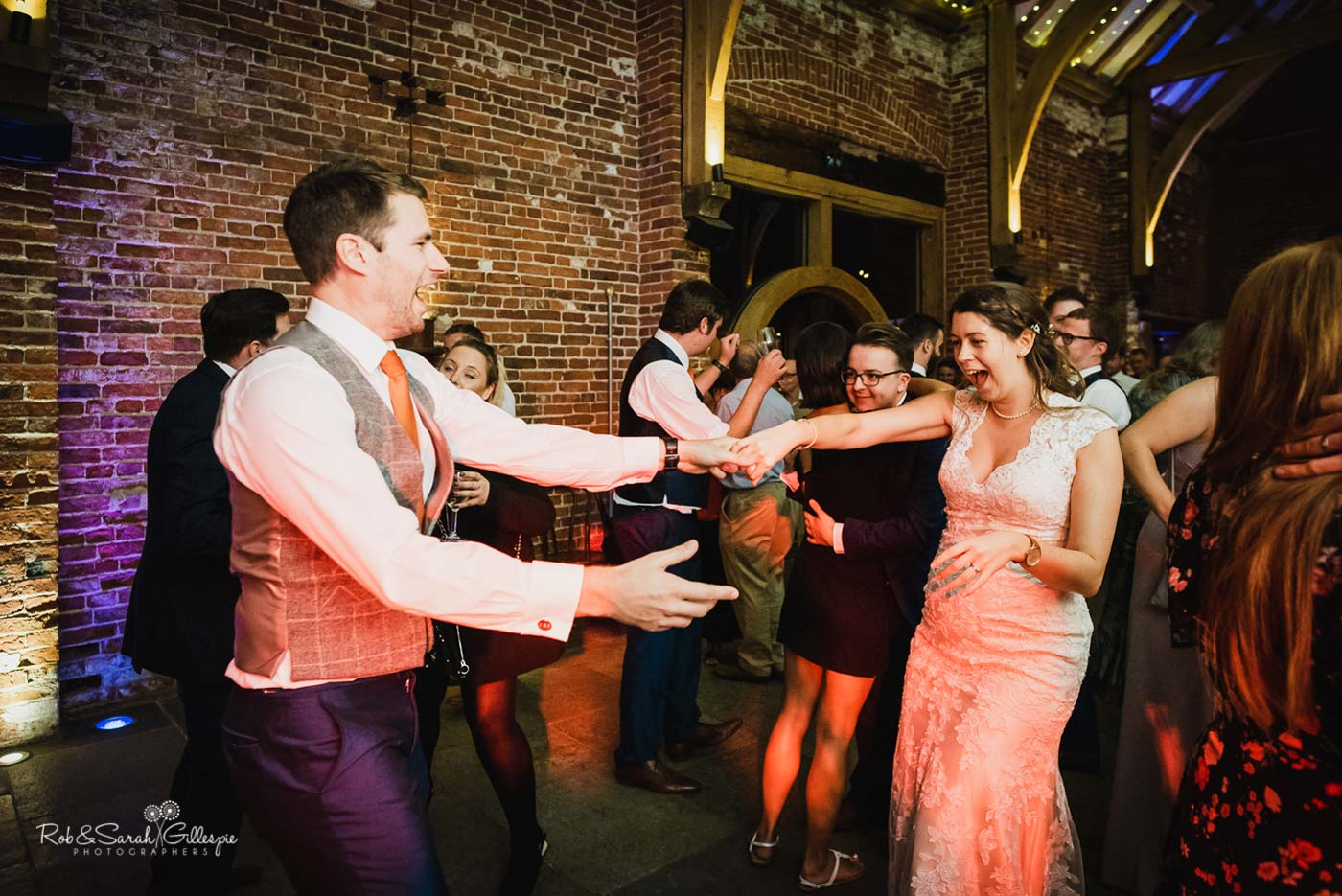 Wedding dancing at Hazel Gap Barn