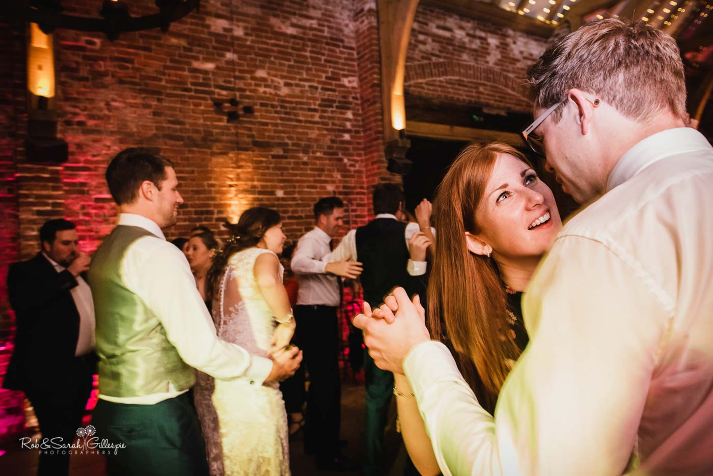 Guests dancing at Hazel Gap Barn wedding