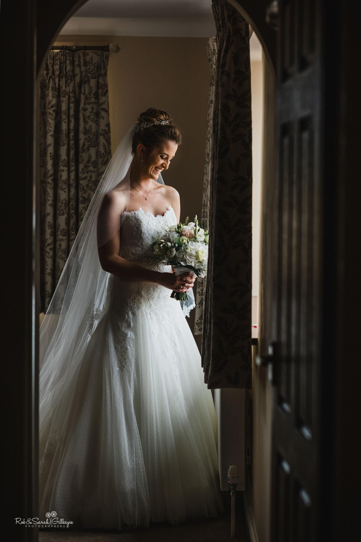 Full-length portrait of bride