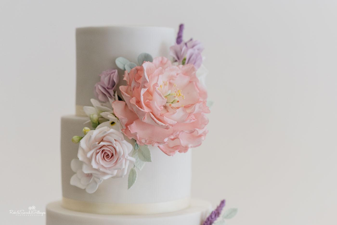 Wedding cake at Delbury Hall