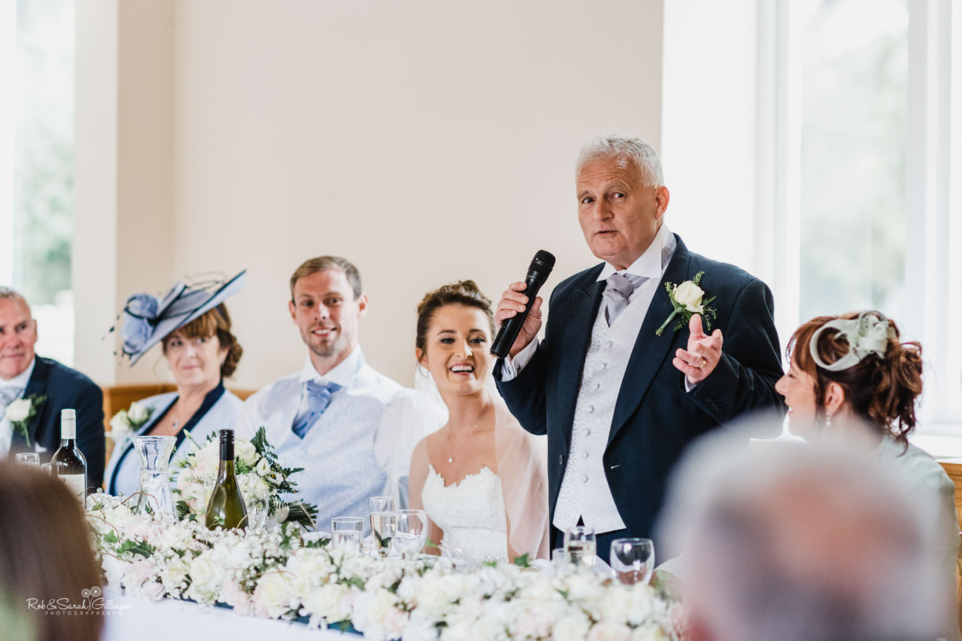Wedding speeches at Delbury Hall in Shropshire