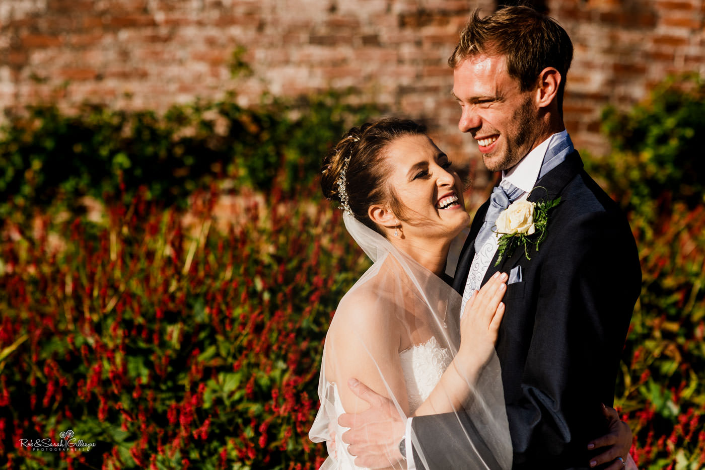 Bride and groom couple photos at Delbury Hall
