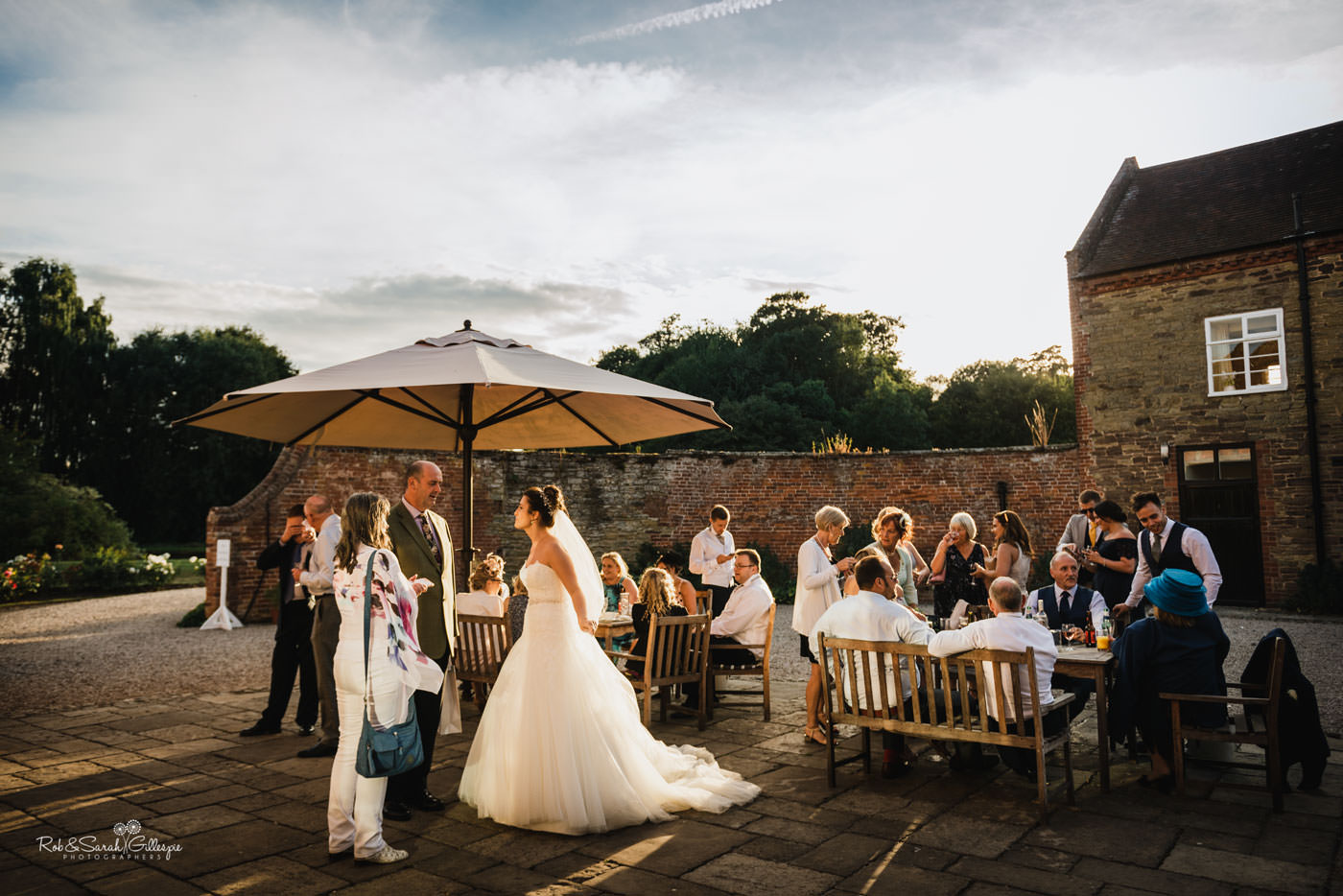 Evening reception at Delbury Hall wedding