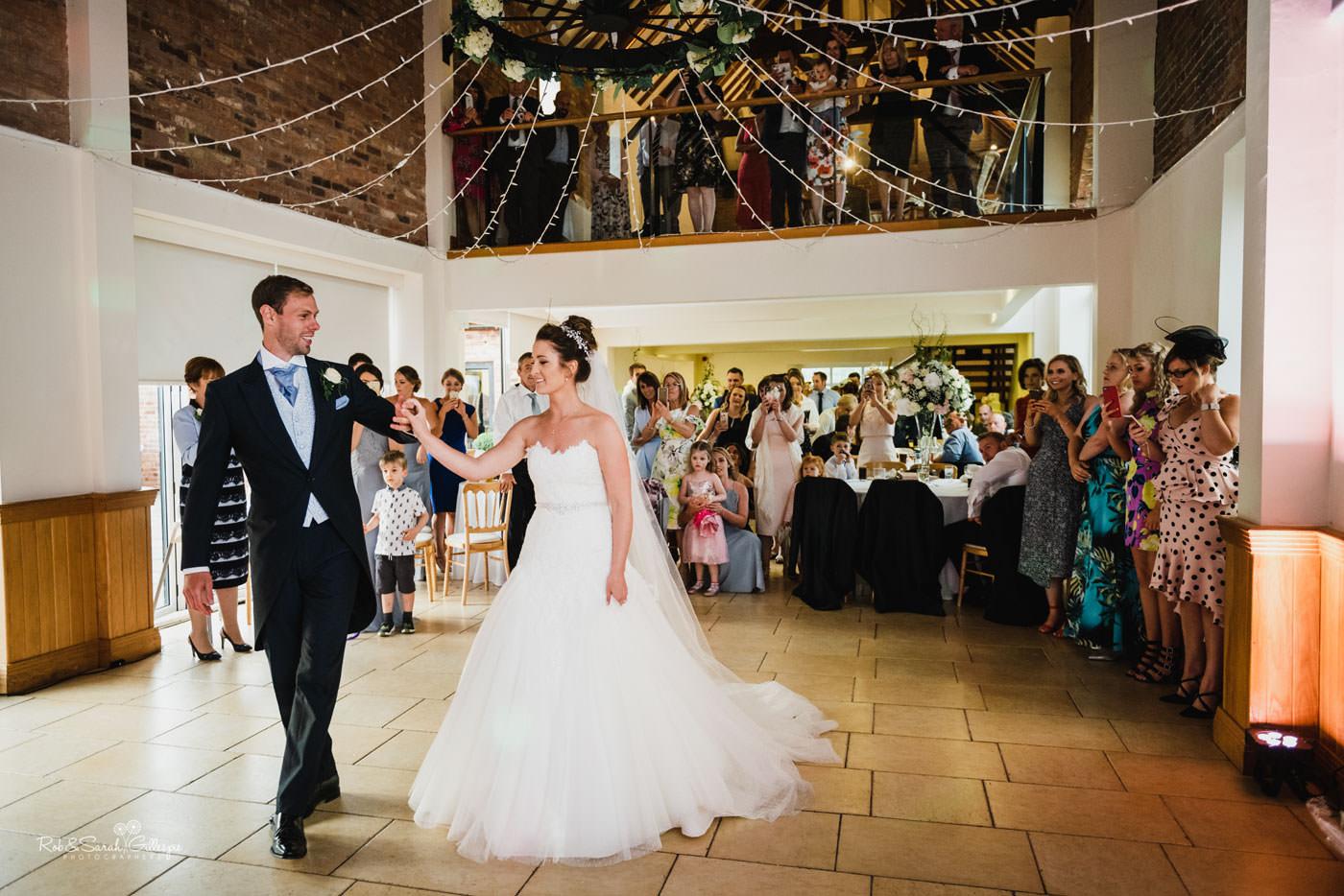 Evening reception at Delbury Hall wedding