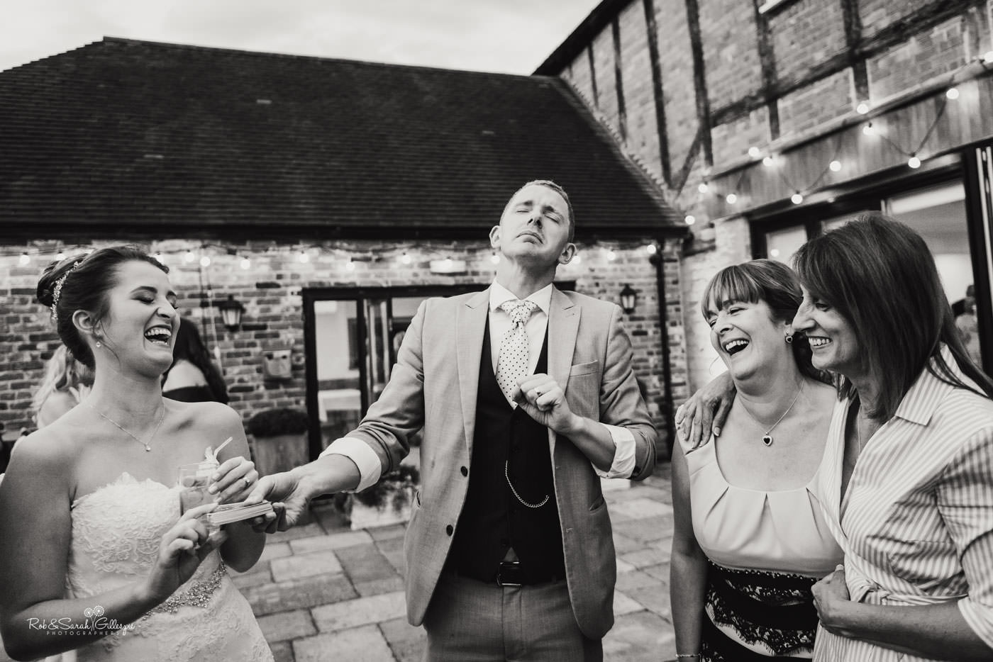 Magician entertains wedding guests at Delbury Hall
