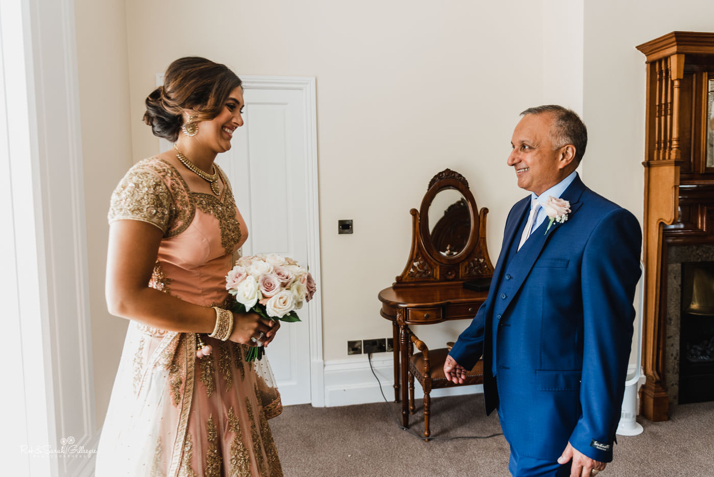 Bride and father at Pendrell Hall