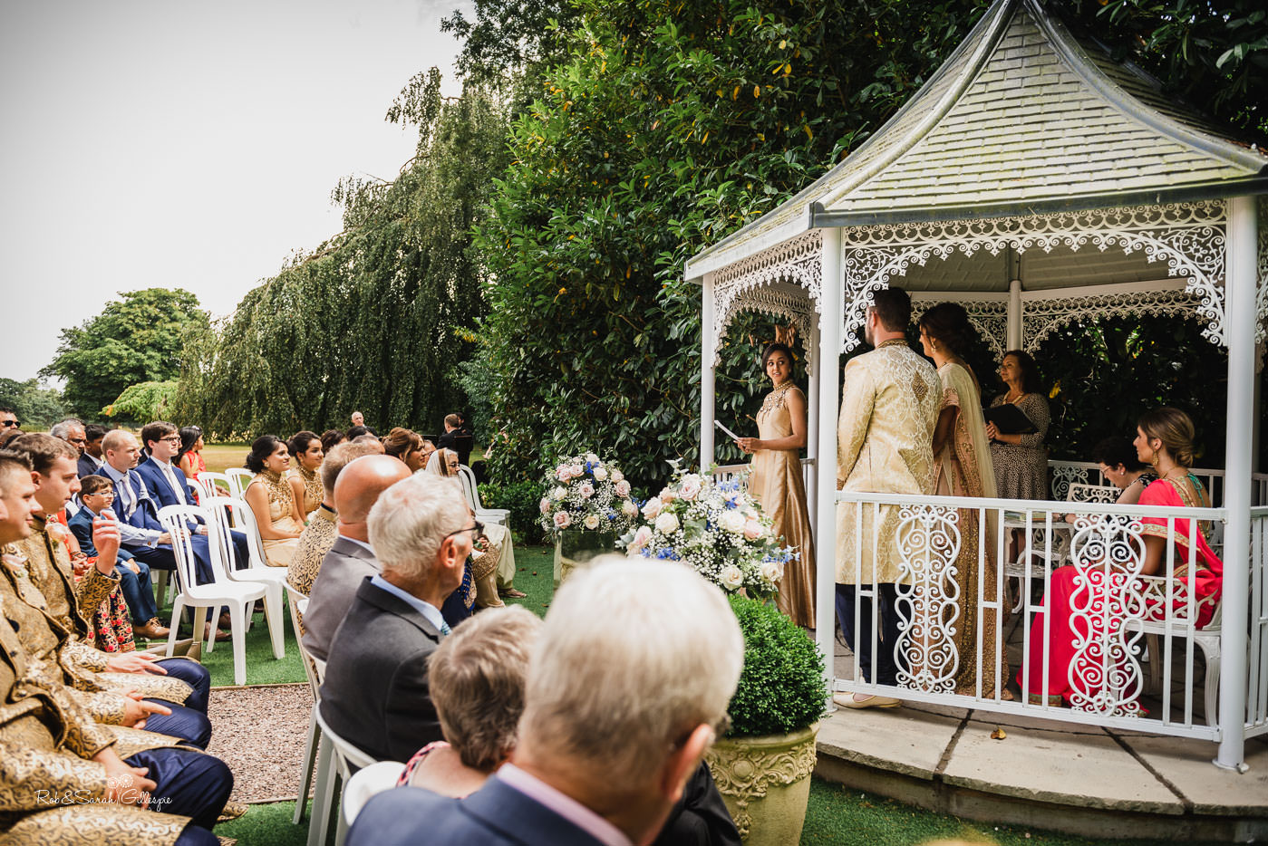 Outdoor wedding ceremony at Pendrell Hall