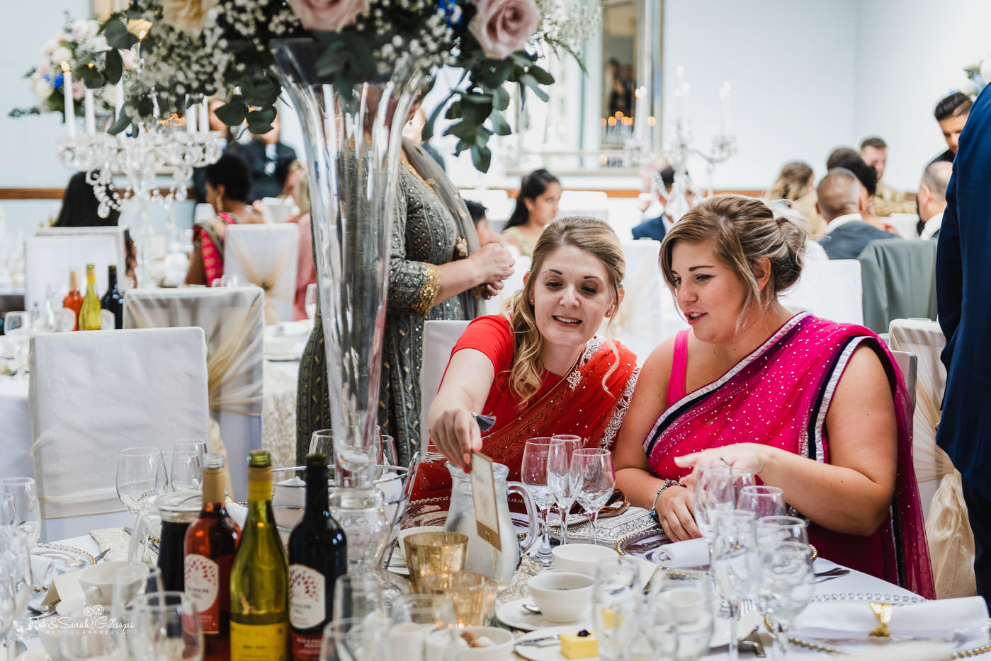 Wedding guests at Pendrell Hall