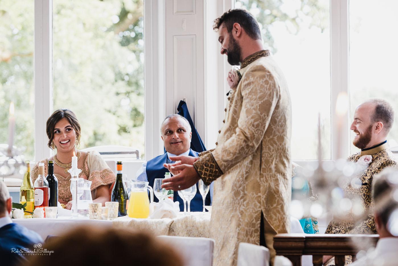 Pendrell Hall fusion wedding speeches