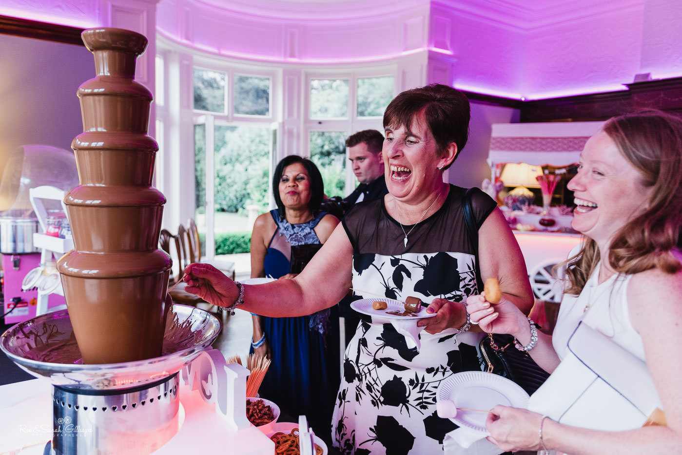 Wedding guests relax at Pendrell Hall