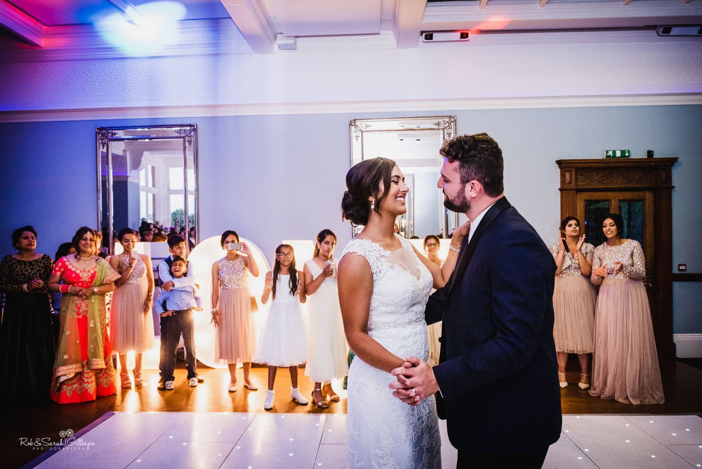 Bride and groom first dance at Pendrell Hall