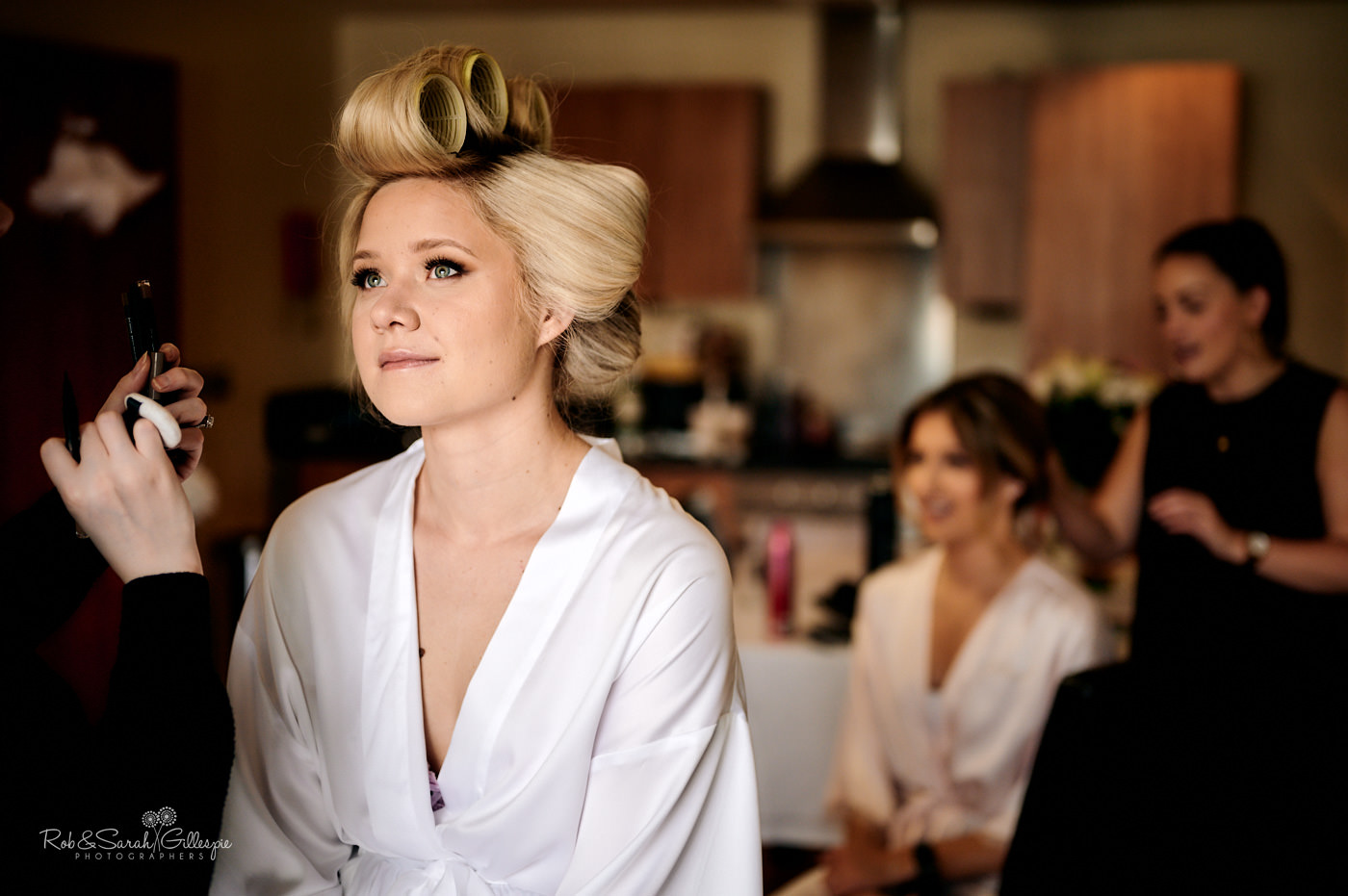 Bride gets ready for wedding in Birmingham
