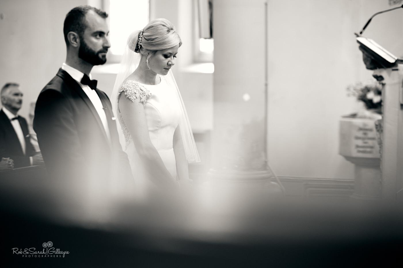 Wedding ceremony at St Anne's Roman Catholic church in Birmingham
