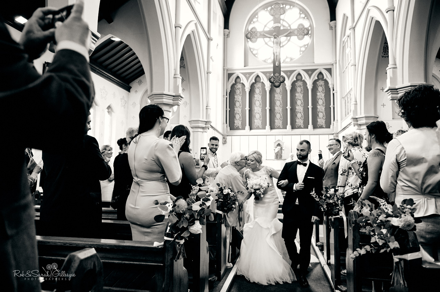 Catholic wedding ceremony at St Anne's church in Birmingham