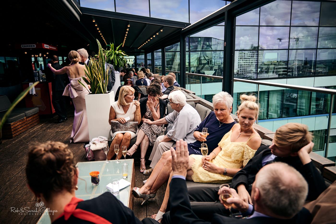Wedding reception drinks at The Cube Birmingham