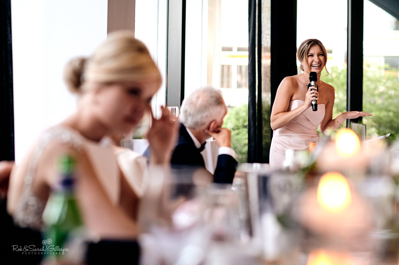 Wedding speeches at The Cube wedding venue in Birmimgham