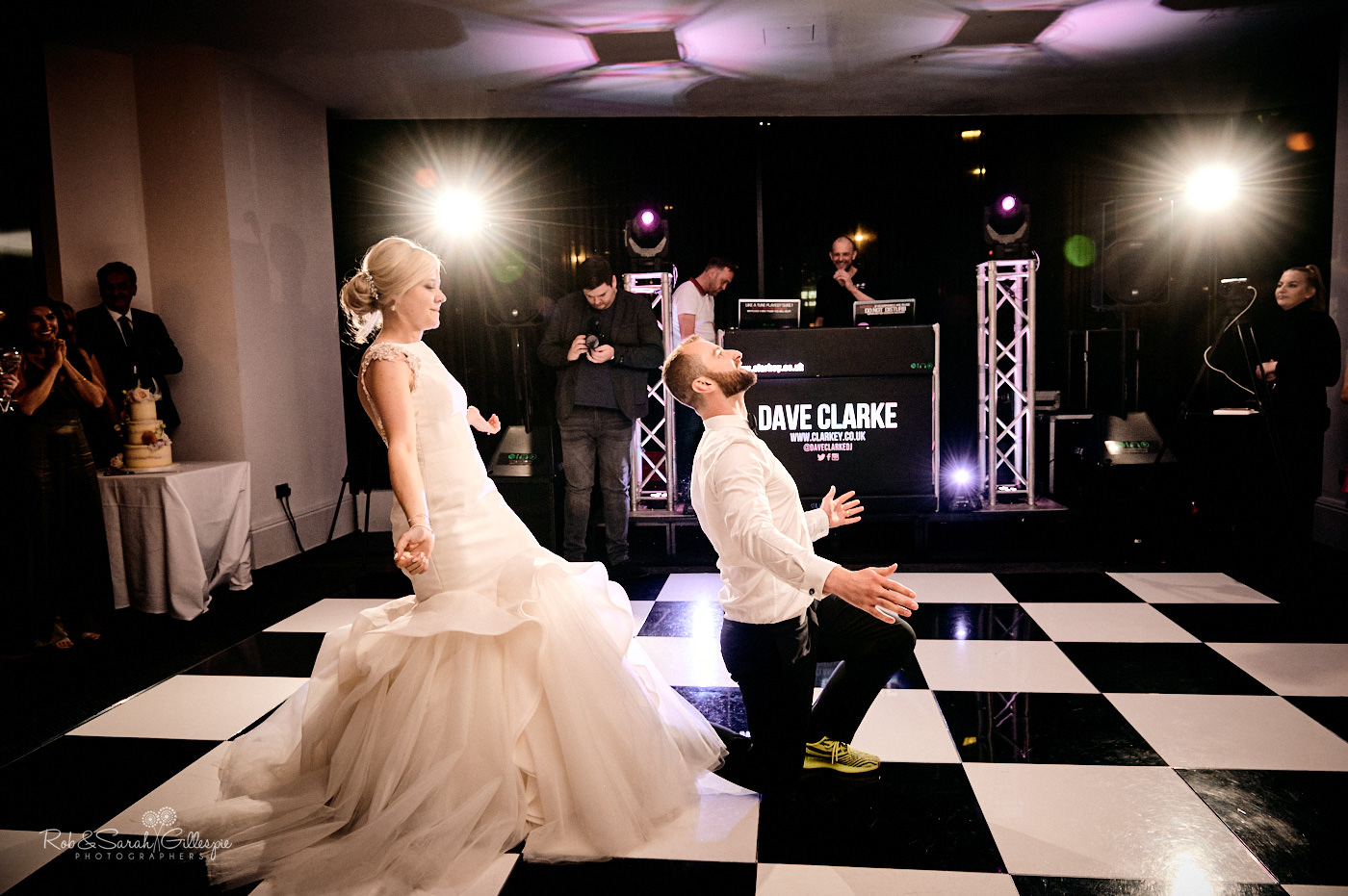 Bride and groom first dance at The Cube wedding venue in Birmingham