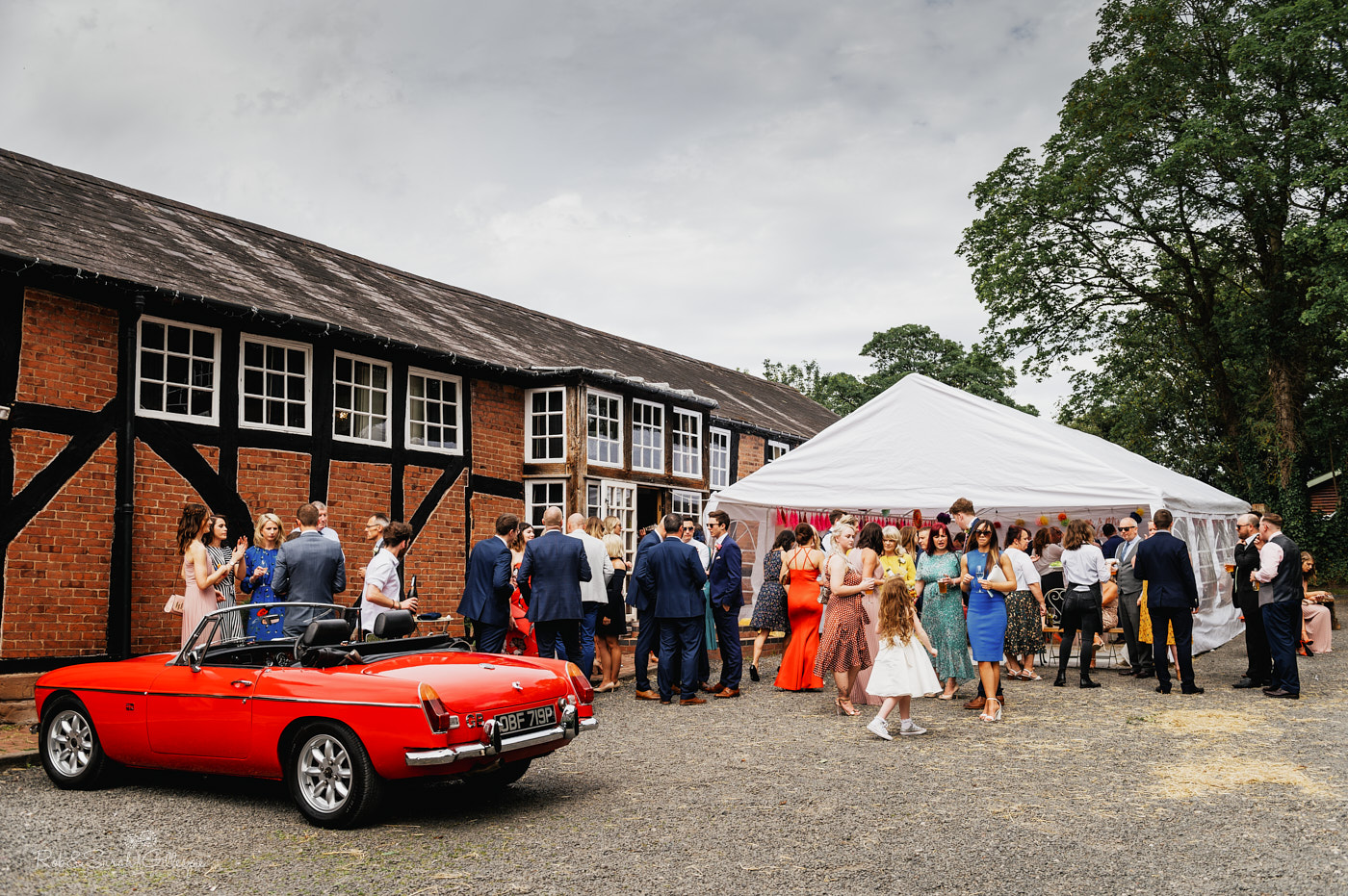 Wedding reception at village hall in Belbroughton, Worcestershire