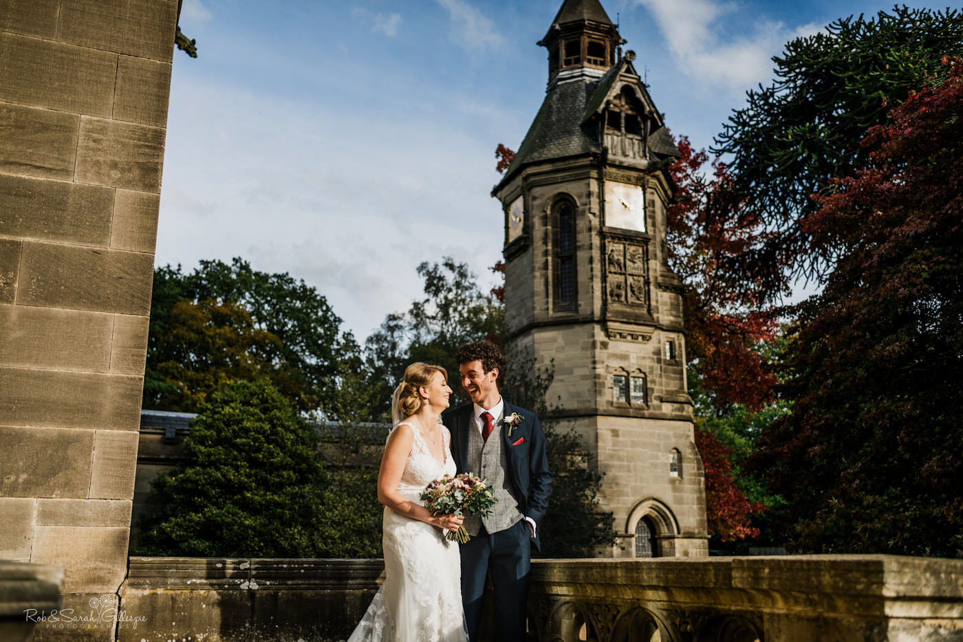 Bride and groom wedding photography at Hampton Manor