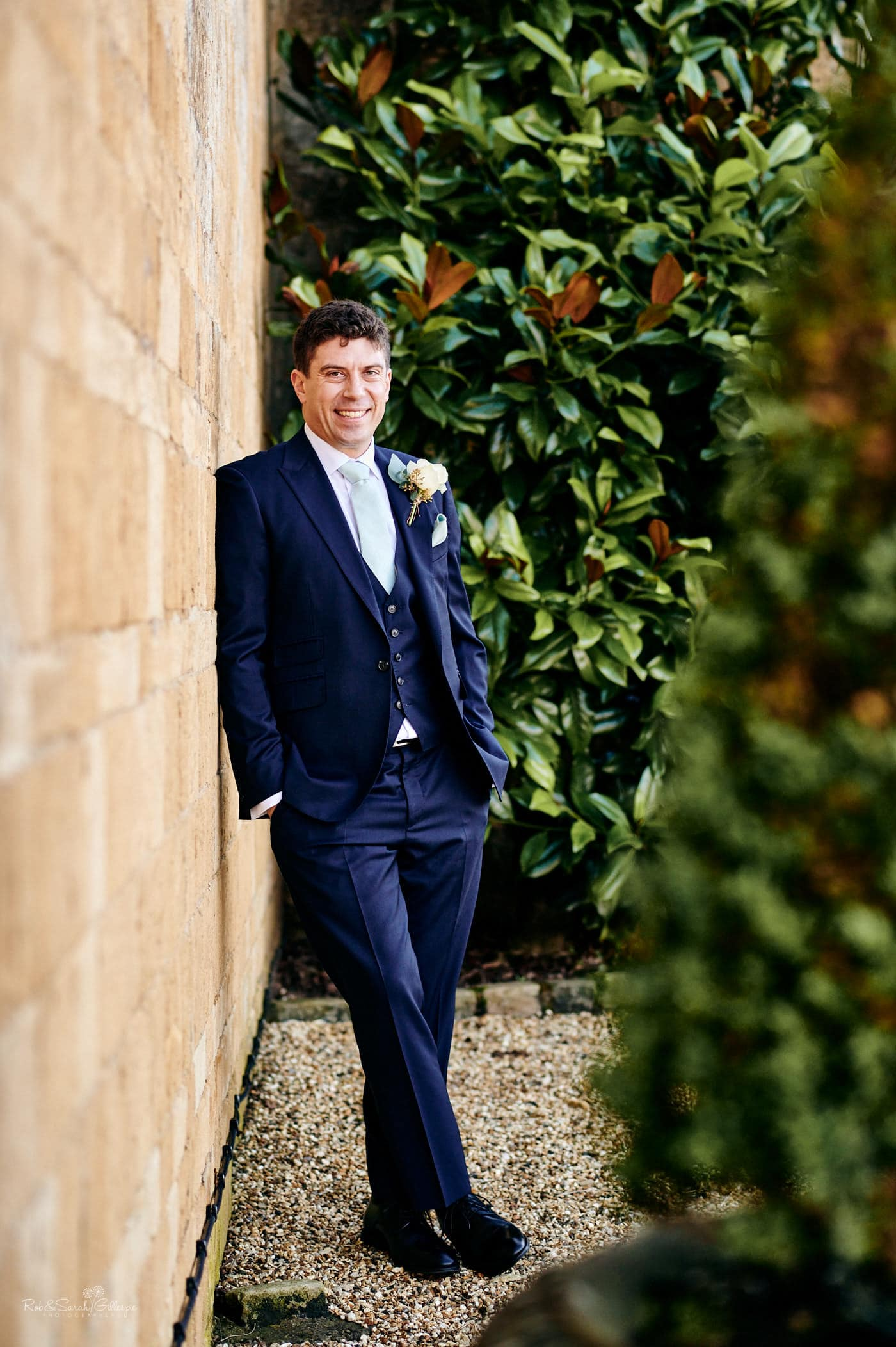Groom portrait at Lapstone Barn in the Cotswolds
