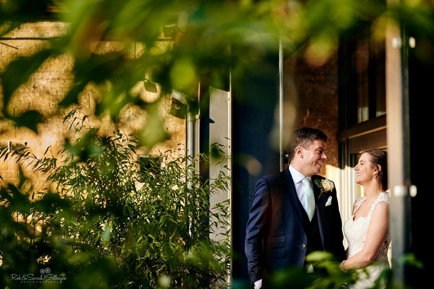 Couple photos at wedding
