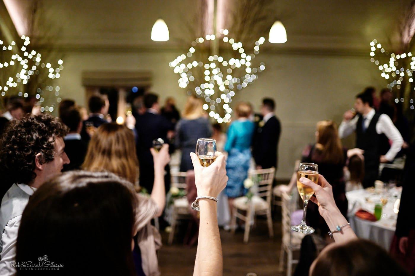 Raising a toast at Lapstone Barn
