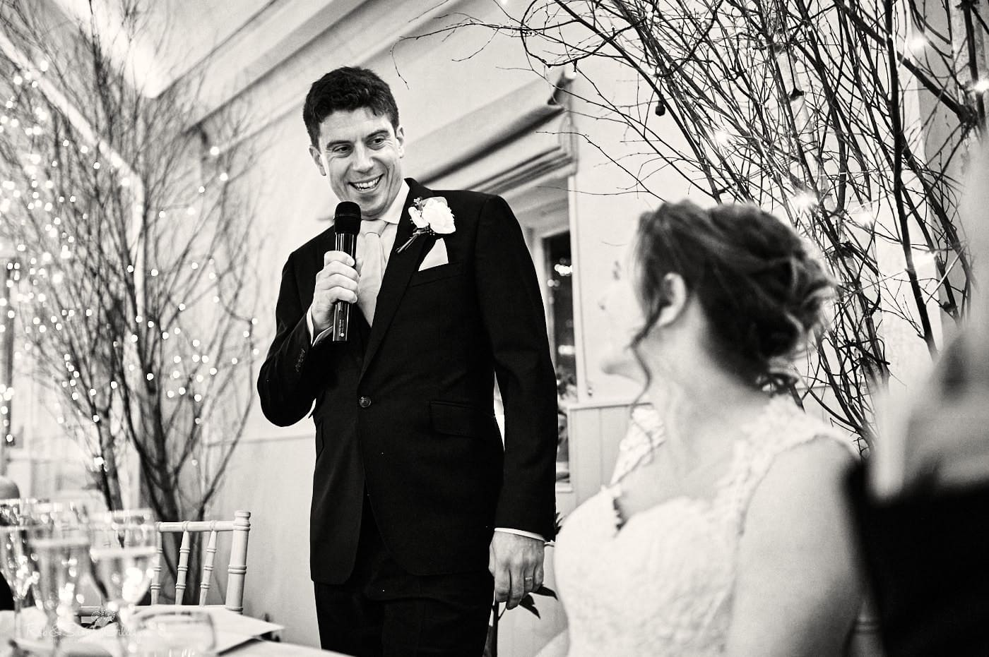 Groom's speech at Lapstone Barn wedding