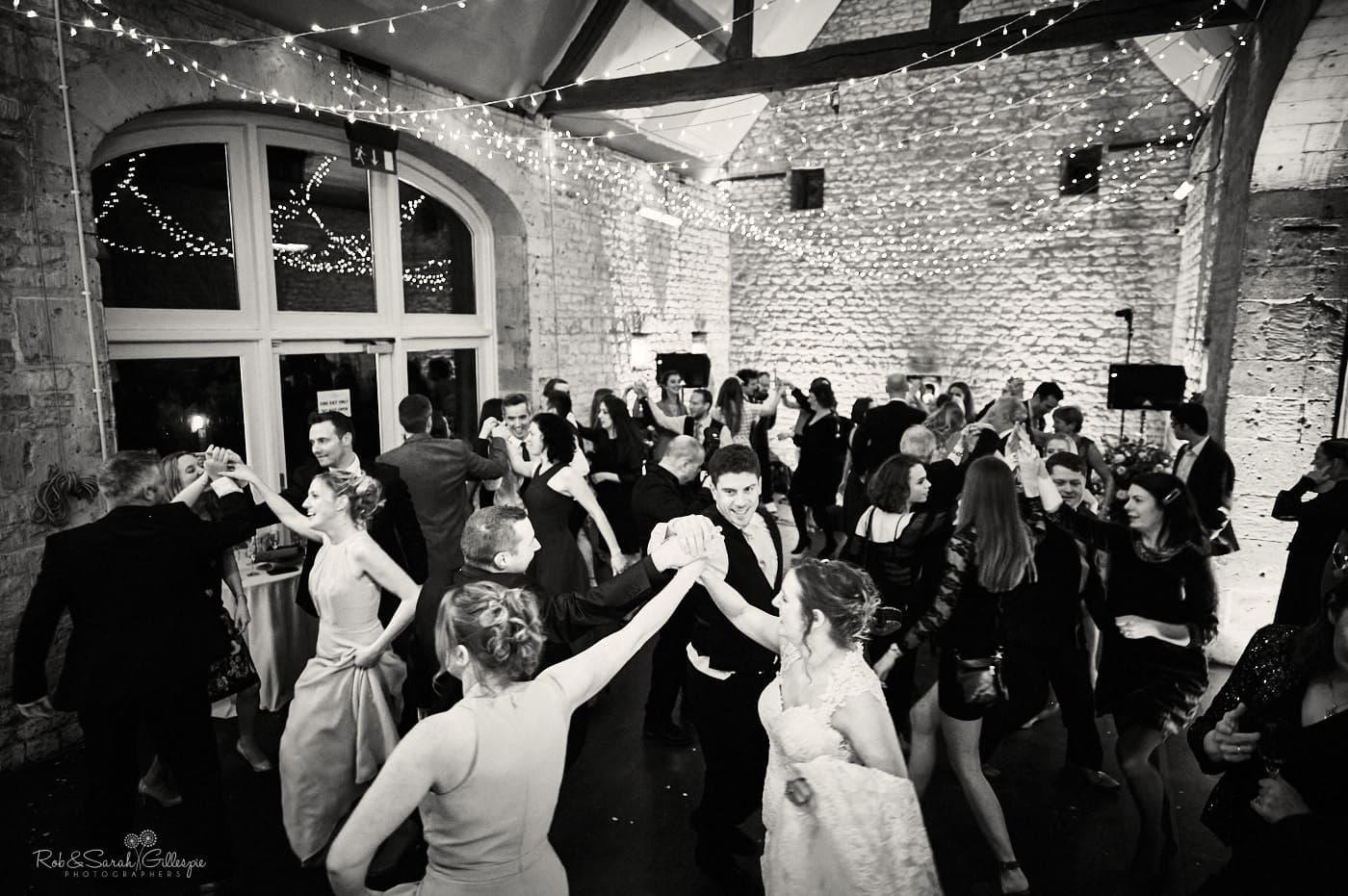 Dancing at Lapstone Barn wedding