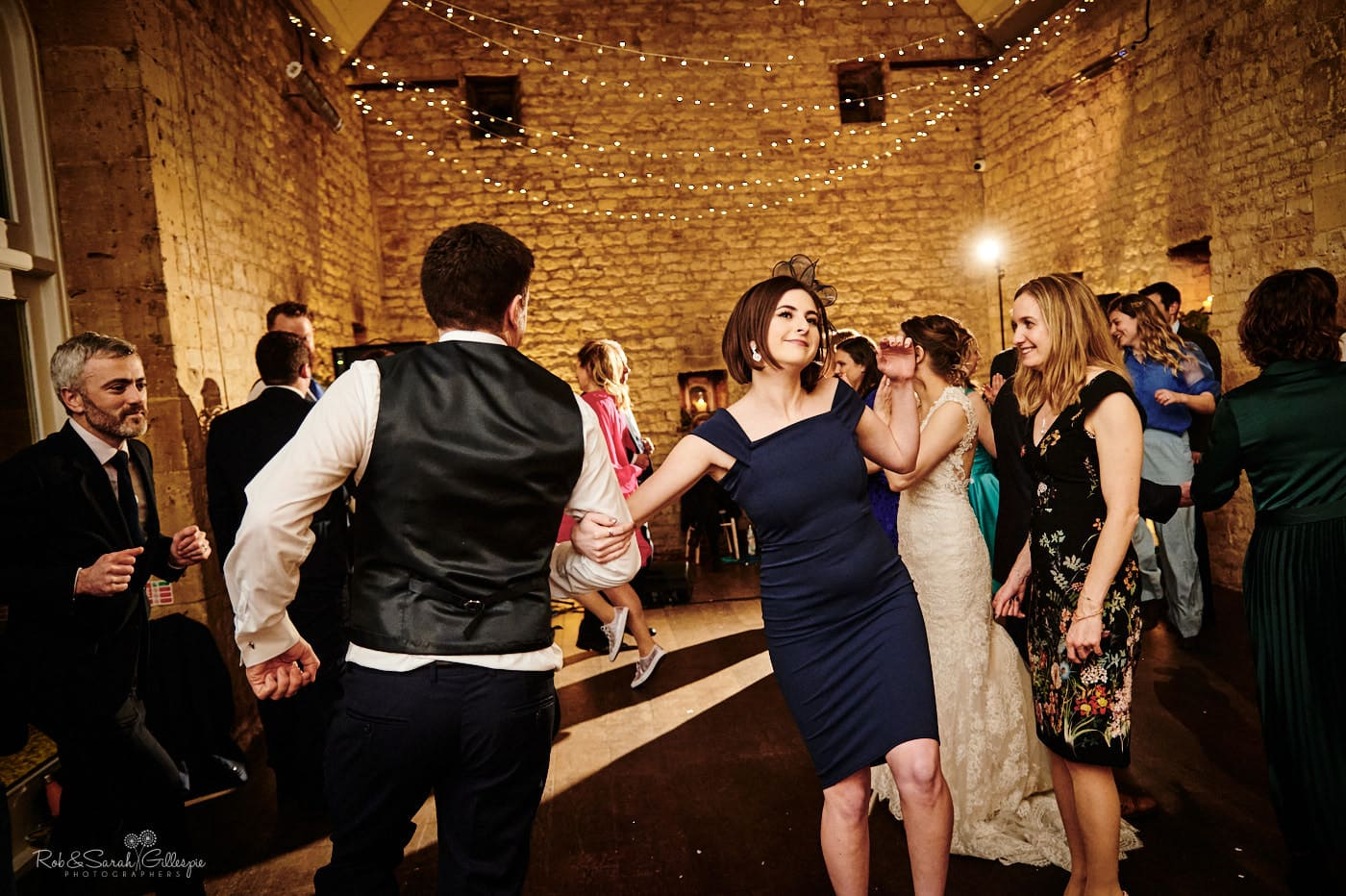 Dancing at Lapstone Barn wedding