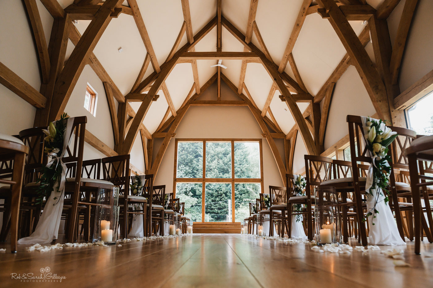 Wedding ceremony room at The Mill Barns in Shropshire