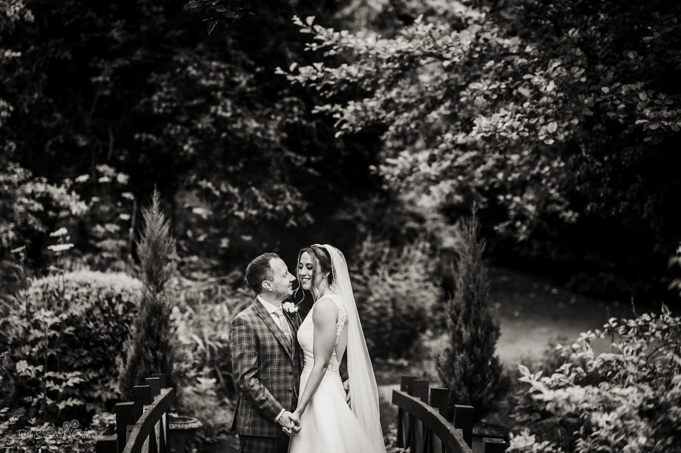 Wedding couple photos at The Mill Barns