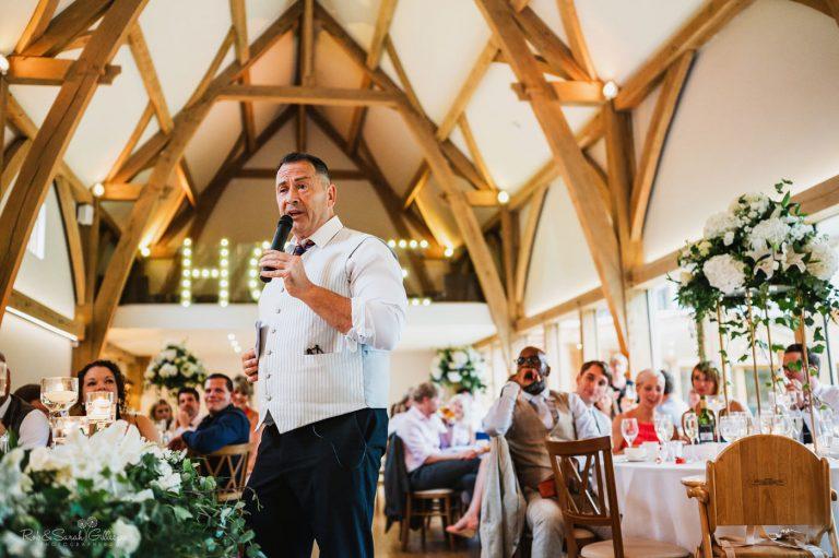 Wedding speeches at Mill Barns